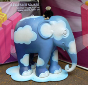 Mooch monkey with elephants in London 2010