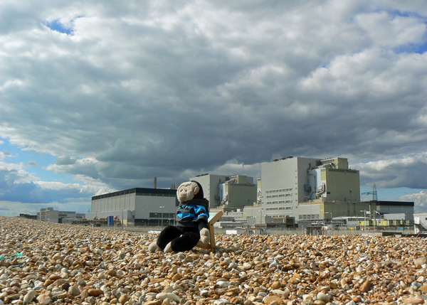 Mooch on the beach at Dungeness nuclear power station.